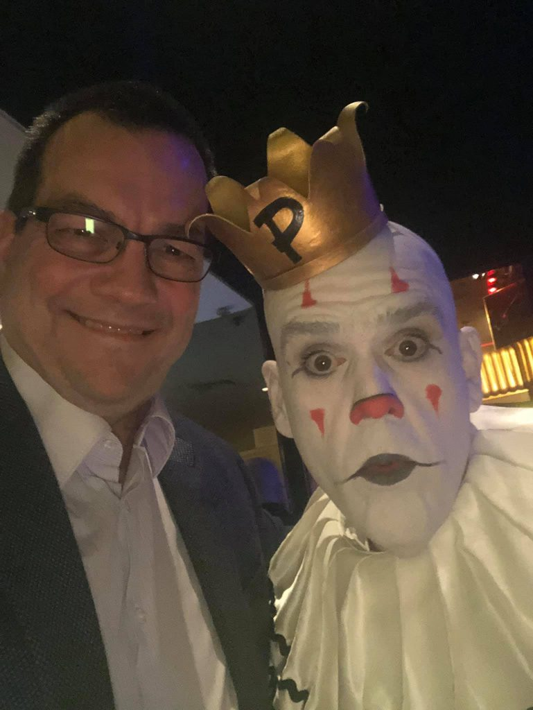 Todd Snively and Puddles the Clown