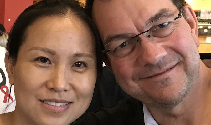 Todd Snively with Wife Jing